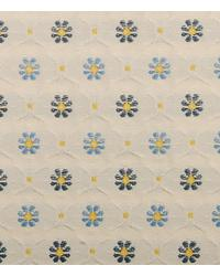 Blue Floral Diamond Fabric  15337 109
