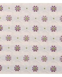 Purple Floral Diamond Fabric  15337 45