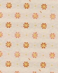 Orange Floral Diamond Fabric  15337 451