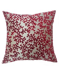 Coral Pillow Burgundy by