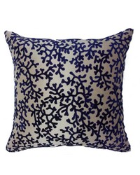 Coral Pillow Navy by