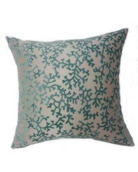Coral Pillow Teal by