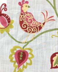Pink Bird Fabric  Ingrid Fuchsia