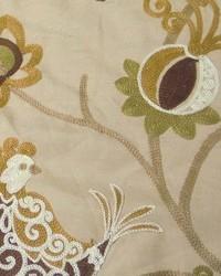Green Bird Fabric  Ingrid Grain