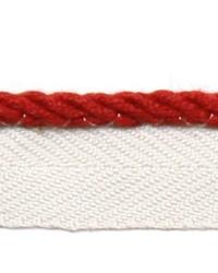 Red Le Lin Trim Europatex Le Lin Micro Cord Rouge