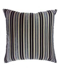 Stripe Pillow Indigo Silver by