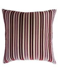 Stripe Pillow Mauve Burgundy by
