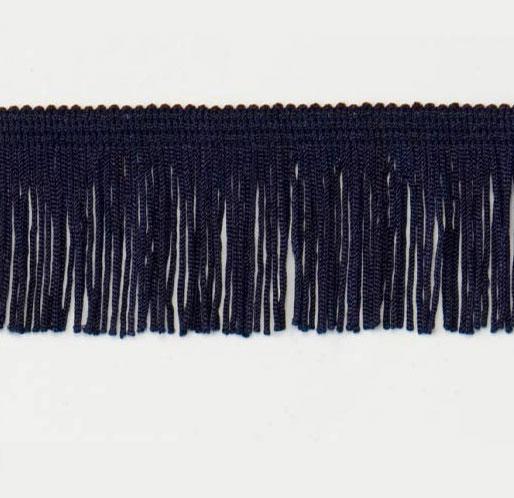 Expo international fabrics 2in chainette fringe navy blue for Mundial decor international nv
