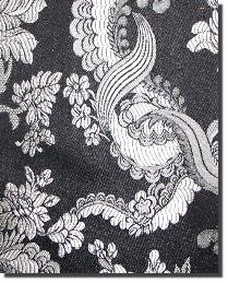 Black Medium Print Floral Fabric  110860 11