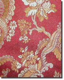 Red Medium Print Floral Fabric  110860 6