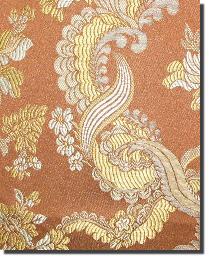 Orange Medium Print Floral Fabric  110860 8