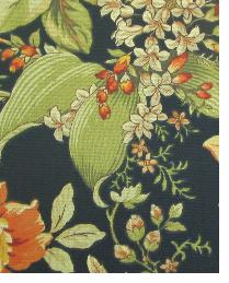 Black Large Print Floral Fabric  111755 Ebony