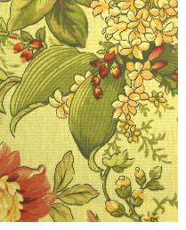 Yellow Large Print Floral Fabric  111755 Nectar