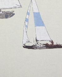 Boats and Sailing Fabric  111904 Multi