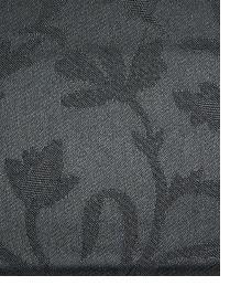 Black Small Print Floral Fabric  112700 Coal