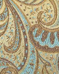 Classic Paisley Fabric  115800 Danube