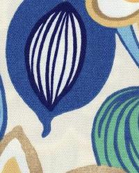 Blue Modern Floral Designs Fabric  118615 Cornsilk