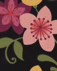 Black Modern Floral Designs Fabric  118620 Night