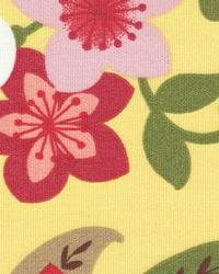 Yellow Modern Floral Designs Fabric  118620 Sunburst