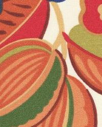 Orange Modern Floral Designs Fabric  118630 Citrus