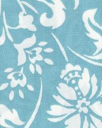 Blue Large Print Floral Fabric  118695 Lagoon