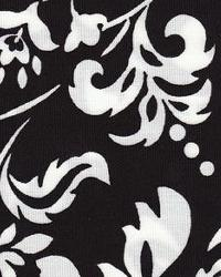 Black Large Print Floral Fabric  118695 Night