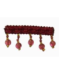 202100 Cabernet - Braid with Acrylic Beads by