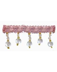 202100 Carnation - Braid with Acrylic Beads by