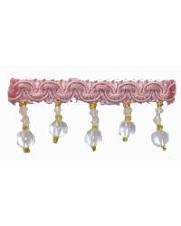 202100 Carnation - Braid with Acrylic Beads by  Fabricade Trim