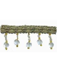 202100 Sage - Braid with Acrylic Beads by  Fabricade Trim