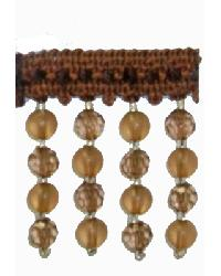 202115 Cocoa - Braid with Frosted and Acrylic Beads by  Fabricade Trim