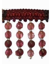 Fabricade Trim Fabricade Trim 202115 Crimson - Braid with Frosted and Acrylic Beads