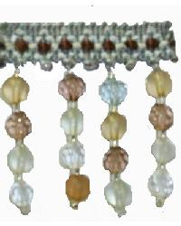 202115 Marine - Braid with Frosted and Acrylic Beads by  Fabricade Trim