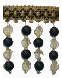 Fabricade Trim Fabricade Trim 202115 Noir - Braid with Frosted and Acrylic Beads