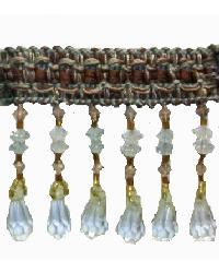 202125 Aspen - Braid with Acrylic Beads by  Fabricade Trim