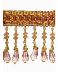202125 Coral - Braid with Acrylic Beads by
