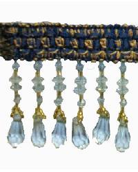 202125 Ocean - Braid with Acrylic Beads by  Fabricade Trim
