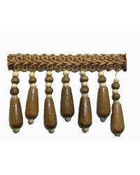 202135 Bark - Gimp with Wood Beads by  Fabricade Trim