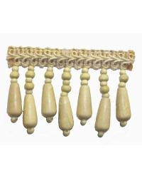 Fabricade Trim Fabricade Trim 202135 Flax - Gimp with Wood Beads