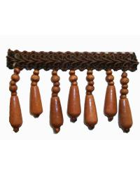 202135 Redwood - Gimp with Wood Beads by  Fabricade Trim