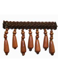 Fabricade Trim Fabricade Trim 202135 Redwood - Gimp with Wood Beads