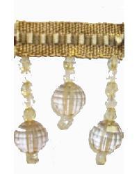 202145 Dune - Braid with Acrylic Beads by  Fabricade Trim