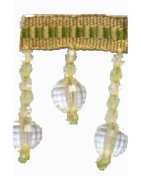 202145 Eucalyptus - Braid with Acrylic Beads by  Fabricade Trim