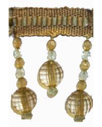202145 Haze - Braid with Acrylic Beads by  Fabricade Trim