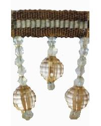 202145 Mink - Braid with Acrylic Beads by  Fabricade Trim