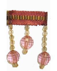 Fabricade Trim Fabricade Trim 202145 Rose - Braid with Acrylic Beads