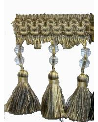 202165 Flaxen - Braid with Loop and Beaded Tassel by  Fabricade Trim