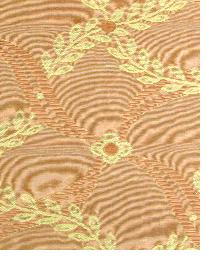 Orange Floral Diamond Fabric  Souvenir Coral