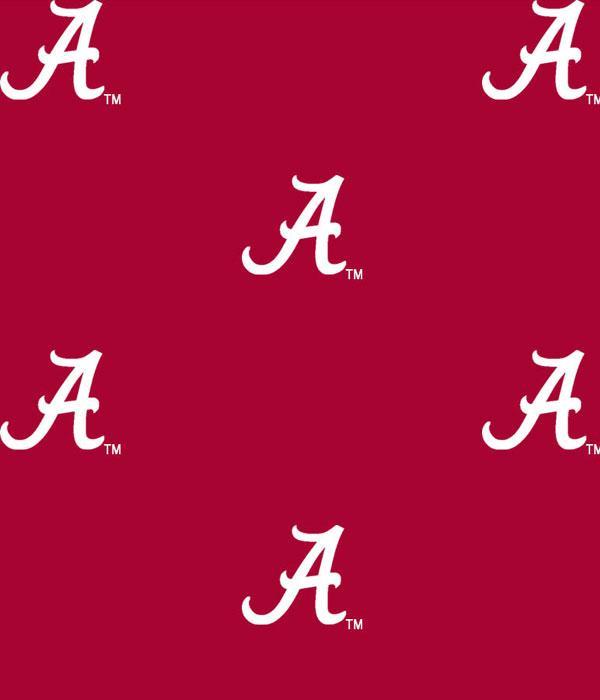 Foust Textiles Inc Fabrics Alabama Crimson Tide Logo Cotton Print
