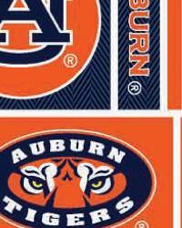 Auburn Tigers Block Cotton Print by